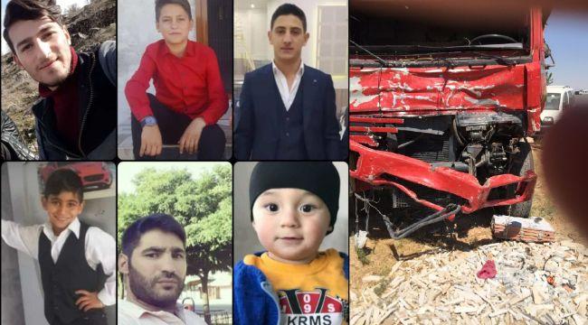 Mardin'deki feci kazada, ailelerinden