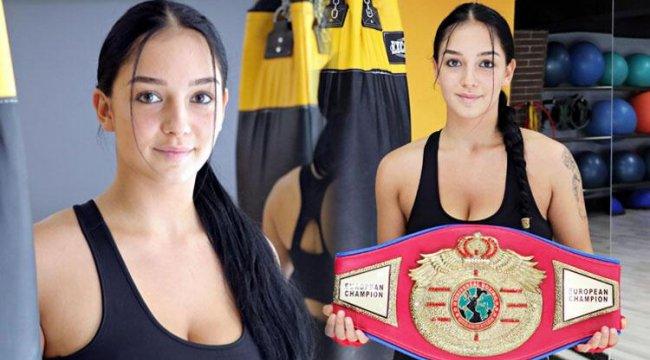 Kilo vermek için boksa başlayan Dilara Yücel, Avrupa Şampiyonluğu kemerini kazandı!