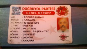 DEMİREL'İN YOL ARKADAŞI ABDURAHMAN KARAYEL, FÖTÖRÜ TAKTI KİMLİĞİ KAPTI